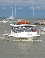 Fishing Charter Boat on Lake Erie